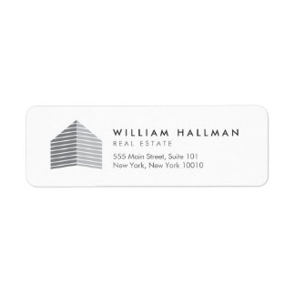 Etiqueta Cinzas/branco Home abstratos do logotipo
