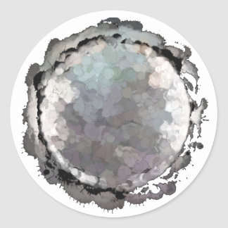 Etiqueta cinzenta da lua da Escorpião Adesivo