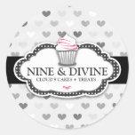 Etiqueta cinzenta divina do cupcake de 311 adesivos em formato redondos