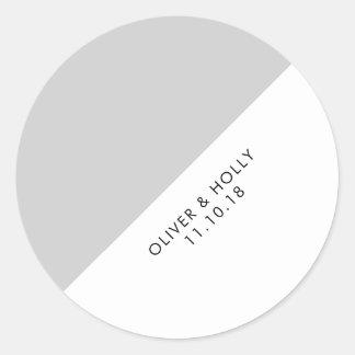 Etiqueta cinzenta do círculo