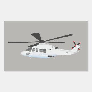Etiqueta cinzenta do helicóptero