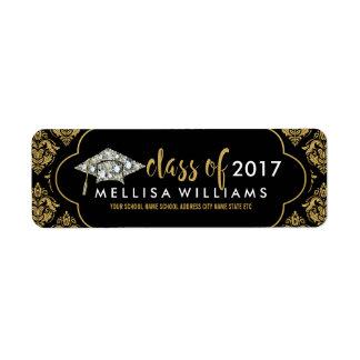 Etiqueta Classe branca dos diamantes de 2017 damascos do