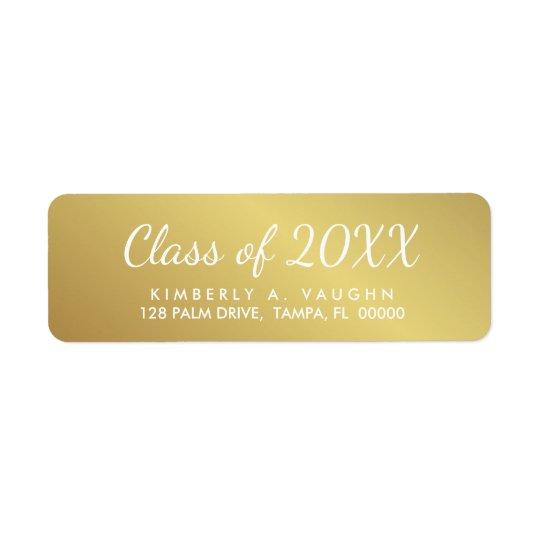Etiqueta Classe da graduação de endereço do remetente do