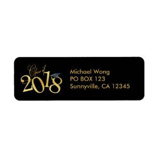 Etiqueta Classe Funky do preto e do ouro da graduação 2018