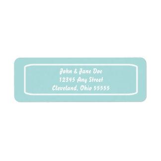 Etiqueta clássica de Avery do endereço (Tiffany)