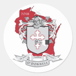 Etiqueta clássica de O'Donnell no vermelho