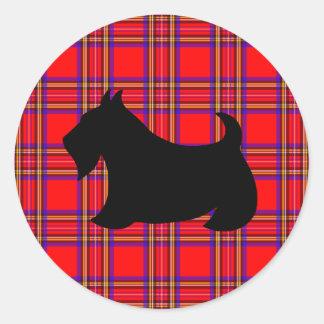 Etiqueta clássica de Terrier do Scottish do cão de