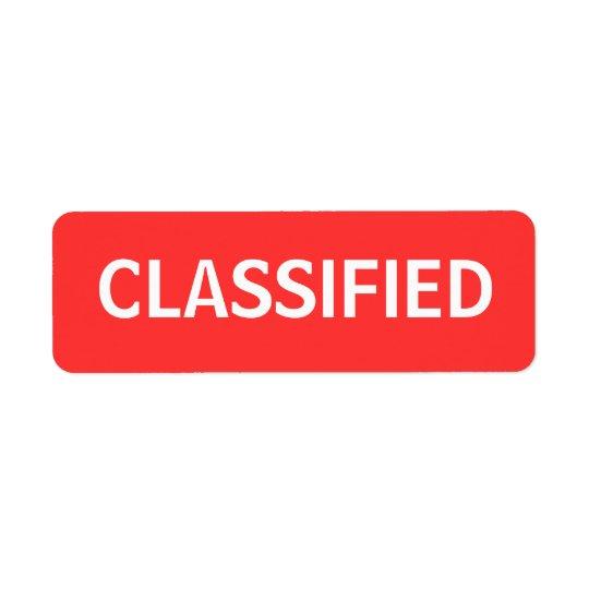 Etiqueta classificado