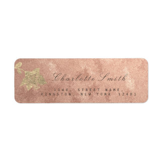 Etiqueta Cobre cor-de-rosa RSVP do ouro do ouro floral