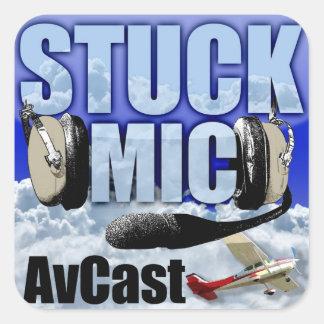 Etiqueta colada do Mic AvCast Adesivo Quadrado