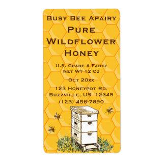 Etiqueta Colmeia e Apiary personalizado favo de mel