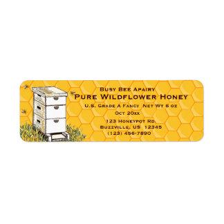 Etiqueta Colmeia e estilo personalizado favo de mel 3 do