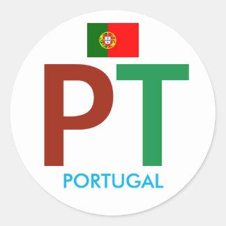 Etiqueta colorida da circular de Portugal pinta