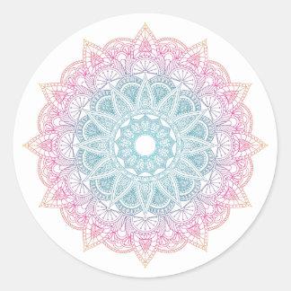 Etiqueta colorida da mandala do inclinação