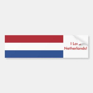 Etiqueta com a bandeira de Países Baixos Adesivos