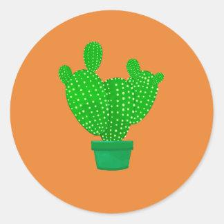 Etiqueta com cacto verde