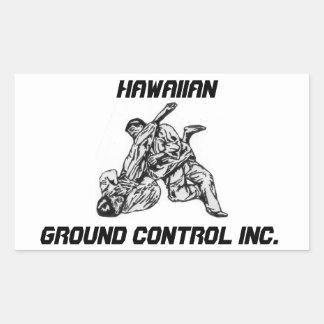 Etiqueta com logotipo havaiano do Inc do controle Adesivo Retangular