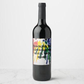 Etiqueta cómico do vinho do professor
