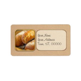 Etiqueta Comida - pão - apenas loafing ao redor