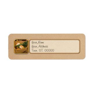 Etiqueta Comida - pão - Rolls e Rosemary