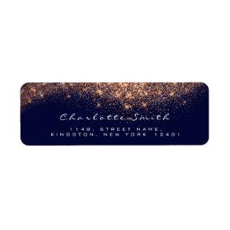 Etiqueta Composição nupcial azul do ouro cor-de-rosa do