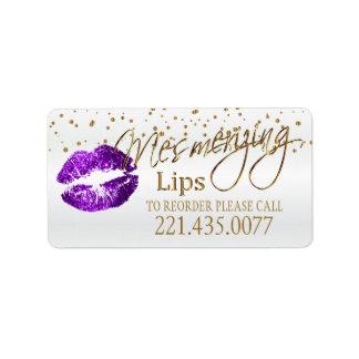 Etiqueta Confetes dourados & os lábios roxos - requisite