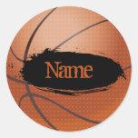 Etiqueta conhecida do basquetebol - modelo adesivo em formato redondo