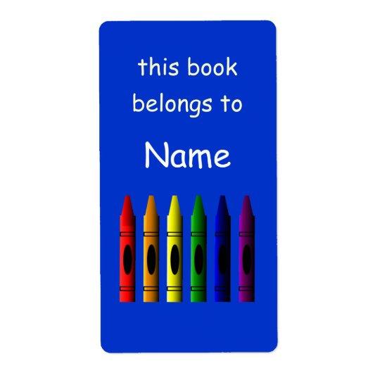 Etiqueta conhecida do Bookplate da escola do Etiqueta De Frete