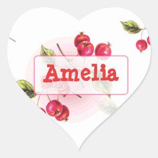 Etiqueta conhecida personalizada com as cerejas