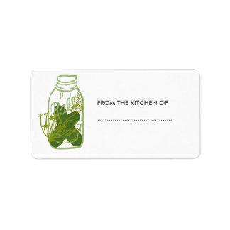 Etiqueta Conservas de vidro da comida do frasco das