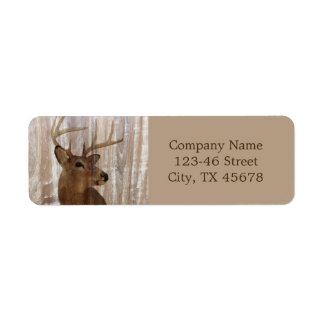 Etiqueta construção do carpinteiro do woodgrain dos cervos