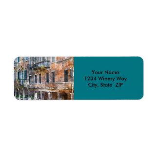 Etiqueta Construções de Veneza Italia