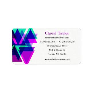 Etiqueta Consultante profissional geométrico moderno do
