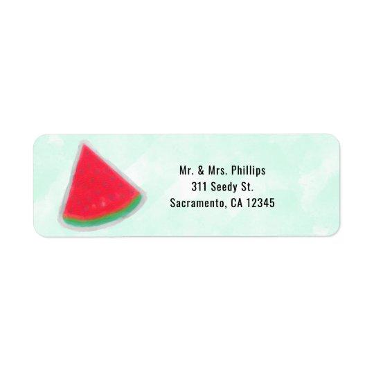 Etiqueta Convite de aniversário da aguarela da melancia