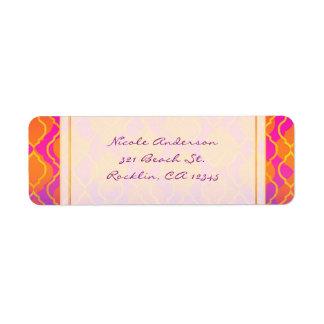 Etiqueta Convite Glam marroquino árabe das cores brilhantes