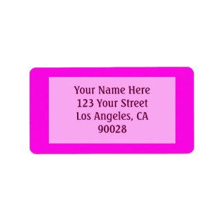 Etiqueta cor cor-de-rosa