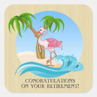 Etiqueta cor-de-rosa da aposentadoria de Congrats