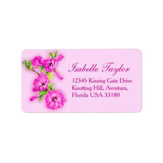 Etiqueta cor-de-rosa da resposta do casamento da
