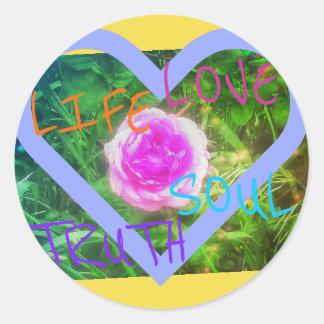 etiqueta cor-de-rosa das afirmações do coração