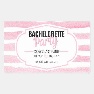 Etiqueta cor-de-rosa das listras   de Bachelorette