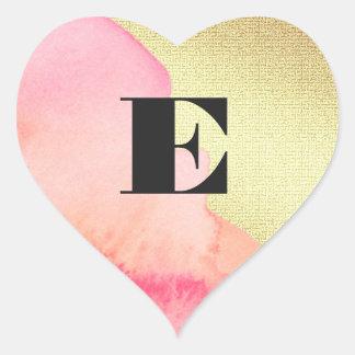 Etiqueta cor-de-rosa do casamento da folha de ouro