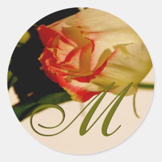 Etiqueta cor-de-rosa do casamento do solteiro do m adesivo redondo