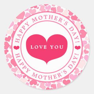 Etiqueta cor-de-rosa do dia das mães do teste