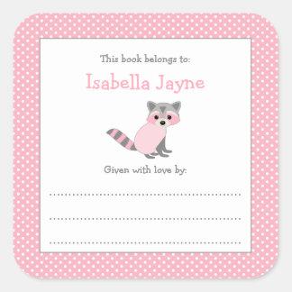 Etiqueta cor-de-rosa do livro do bookplate do chá