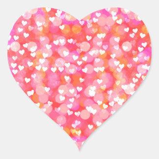 Etiqueta cor-de-rosa Glam dos namorados do teste