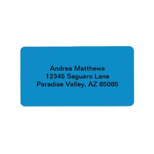 Presentes cor azul topzio zazzle etiqueta cor slida azul do topzio reheart Image collections