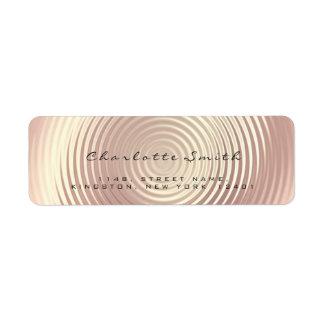 Etiqueta Cora a seda cor-de-rosa do endereço do remetente