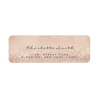 Etiqueta Cora o endereço do remetente cor-de-rosa do brilho