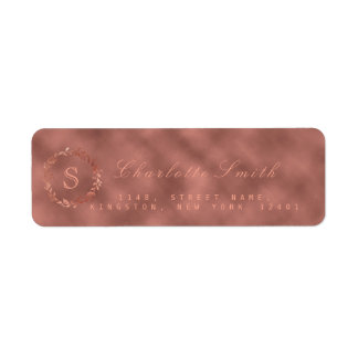 Etiqueta Cora o monograma metálico RSVP do VIP da grinalda
