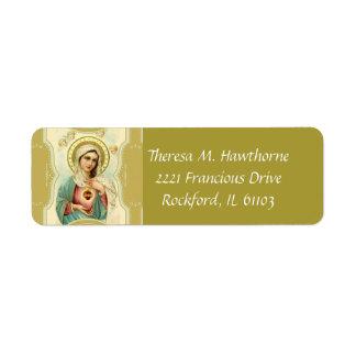 Etiqueta Coração imaculado da Virgem Maria